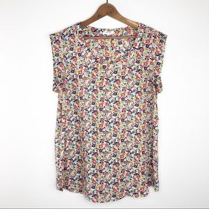 🌿 Pleione Floral Shirt Sleeve Blouse